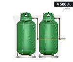 Газгольдер подземный вертикальный 4500 л
